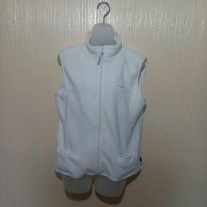 NY Jeans white polyester vest size large